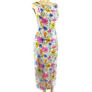 Maggy London 100% Silk Floral Dress